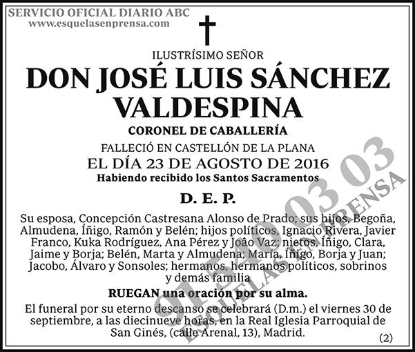 José Luis Sánchez Valdespina